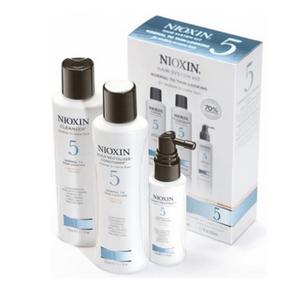 """Набор """"Система 5"""" для средних и жестких окрашенных или натуральных волос с намечающейся тенденцией к выпадению, 1 шт. (Nioxin)"""
