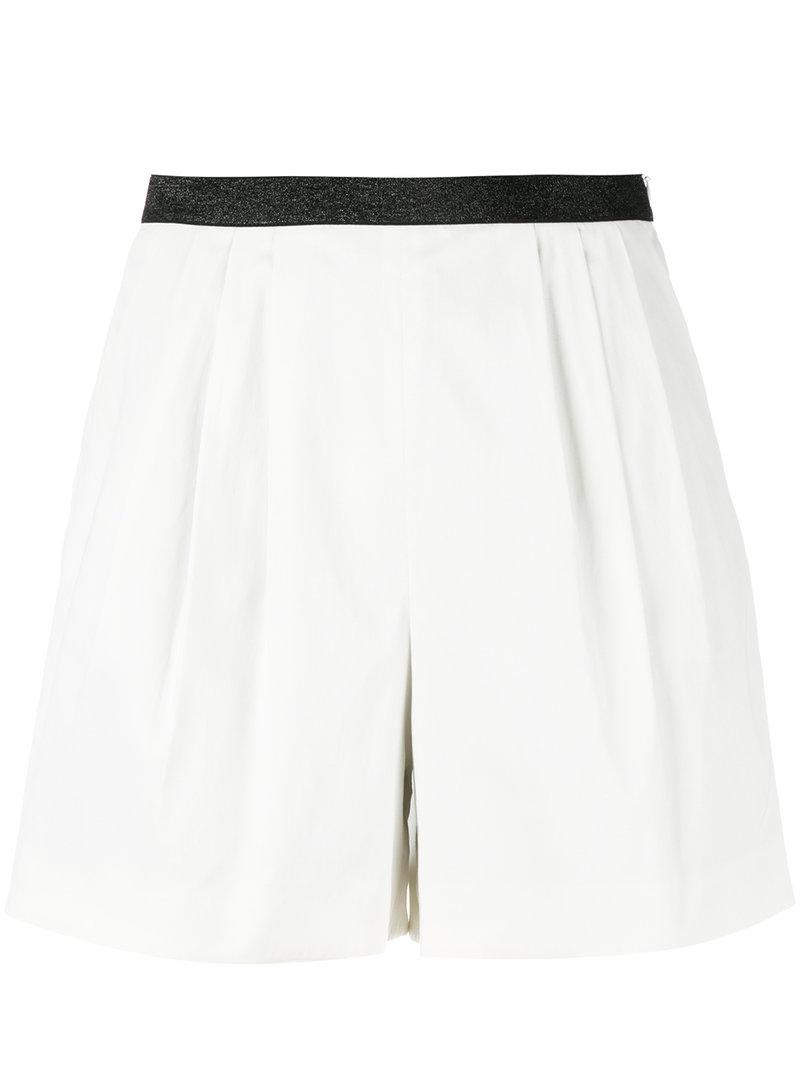 шорты с контрастным поясом Sonia By Sonia Rykiel