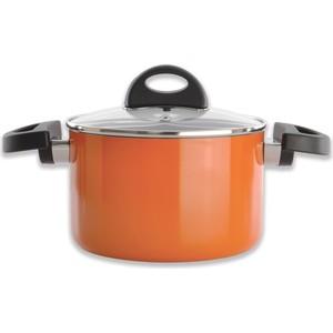 Кастрюля с крышкой 16 см 2 л BergHOFF Eclipse оранжевая (3700156)