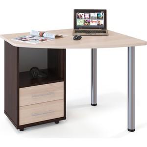 Стол компьютерный СОКОЛ КСТ-102 Левый венге/дуб беленый