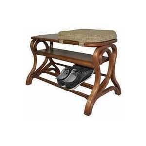 Обувница Мебелик Диана, средне-коричневый/ткань с 41841