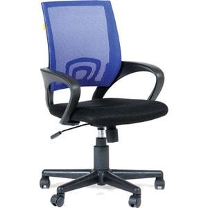 Кресло Алвест AV 214 PL (696) МК TW сетка 455 черная/сетка 471 синяя