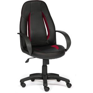 Кресло TetChair ENZO кож/зам+ткань, черный/черный перфорированный/бордо, 36-6/36-6/06/13