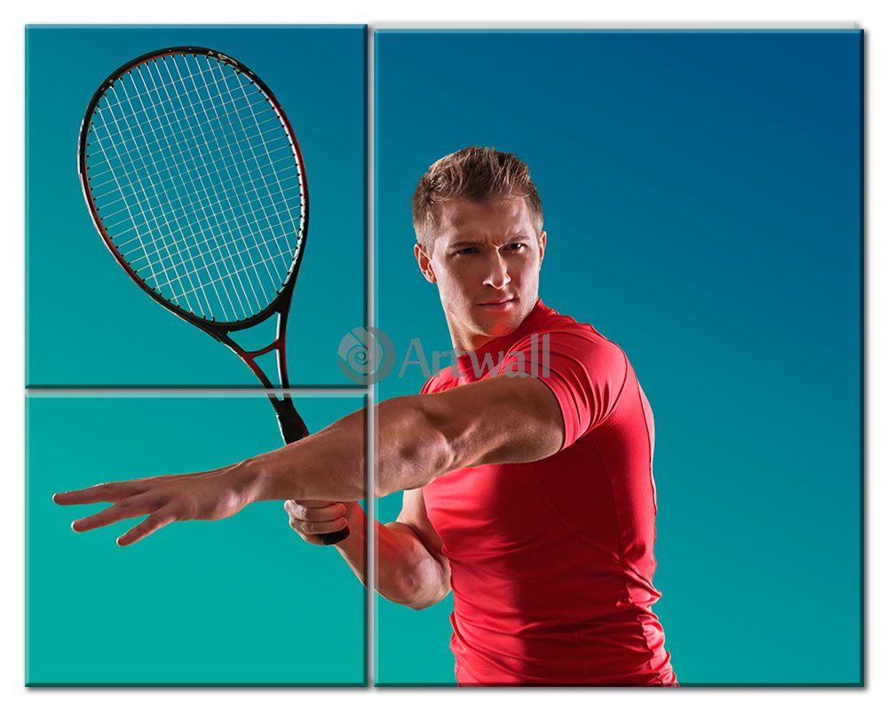 Модульная картина «Игрок в большой теннис»