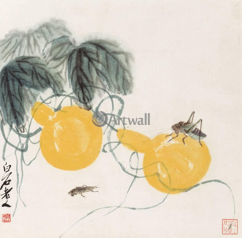 Японская гравюра Ци Бай-ши,