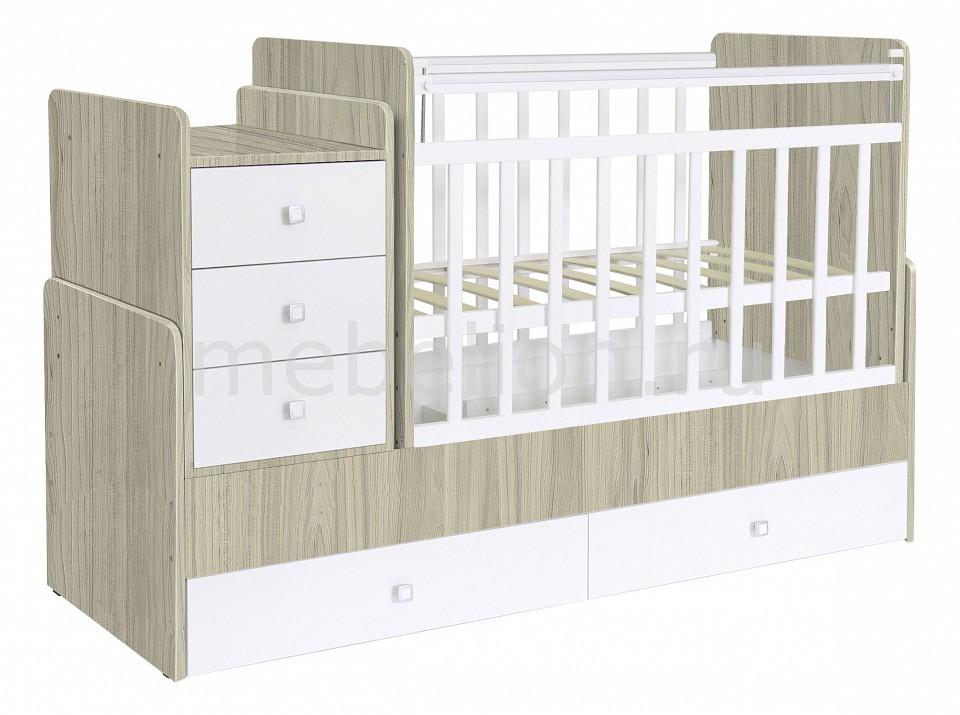 Кроватка-трансформер Polini Simple 1100