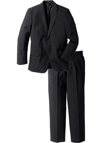 Мужской костюм Regular Fit (2 изд.), низкий + высокий рост U + S (черный)