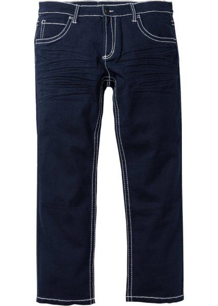 Брюки-стретч Regular Fit Straight, низкий + высокий рост U + S (темно-синий)