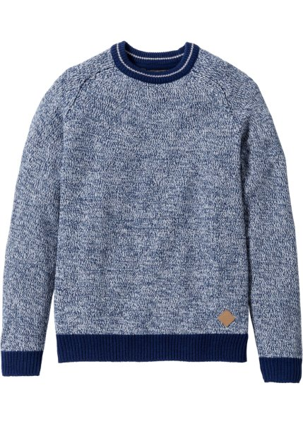 Пуловер Regular Fit (синий меланж)