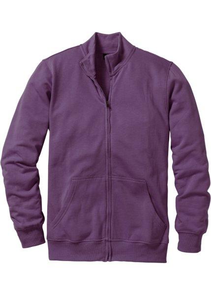 Трикотажная куртка стандартного покроя (виноградный)