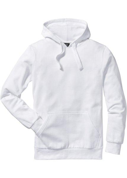 Толстовка стандартного прямого кроя regular fit с капюшоном (белый)