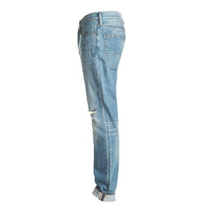 Прямые с зауженными книзу штанинами джинсы Washed Indigo Desty