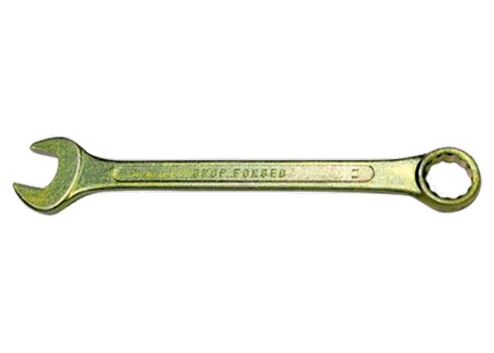 Ключ комбинированный 19 мм, желтый цинк СибрТех 14983