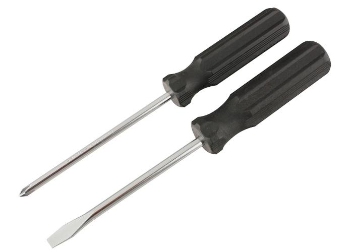 Отвертка Ph0x5 мм, углеродистая сталь, черная пластиковая рукоятка Sparta 13209