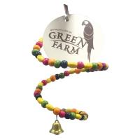 ТМ Green Farm Игрушка для мелких птиц  «Разноцветная спираль-трансформер с колокольчиком» 1 шт. арт. 161.081