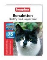 Beaphar «Renaletten» кормовая добавка для кошек с проблемами почек 75 таб. арт. 273.1.010