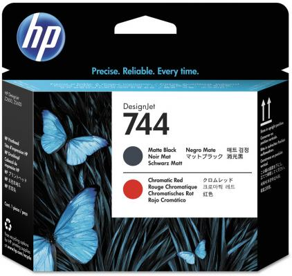 Печатающая головка HP 744 F9J88A для HP Designjet Z2600 Z5600 черный матовый красный