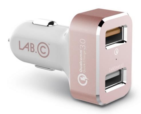 Автомобильное зарядное устройство LAB.C LABC-583-RG 2 х USB 2.4А розовый