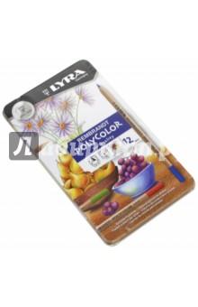 Карандаши 12 цветов, в металлической коробке (L2001120)