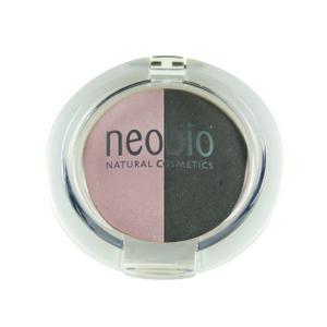 Двойные тени для век, 01 розовый бриллиант, 2,5 г (NeoBio)
