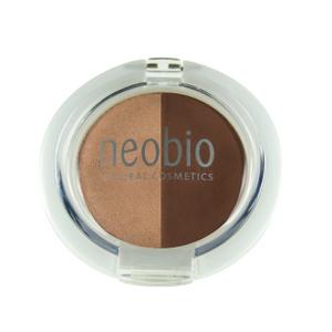 Двойные тени для век, 02 коричневое шампанское, 2,5 г (NeoBio)